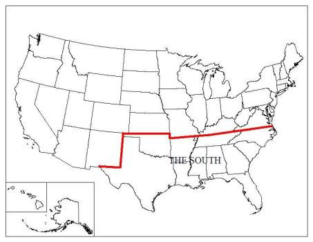 Map of Mason Dixon Line